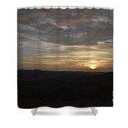 Stormy Sunset Beginning  Shower Curtain