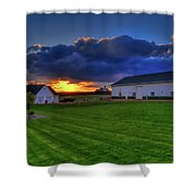 Stormy Sunset In The Country Shower Curtain