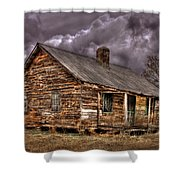 Stormy Times Tenant House Greene County Georgia Art Shower Curtain
