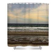 Stormy View Of Nantsaket Beach Shower Curtain