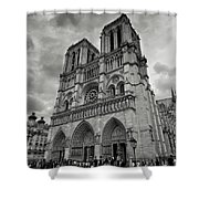 Stormy Views Of Notre-dame Shower Curtain