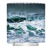 Stormy Waves Shower Curtain