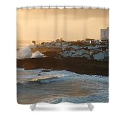 Stormy Weather In Azores Shower Curtain