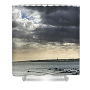 Stormy Whitley Bay Shower Curtain