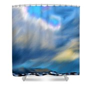 Stormy Winter Sky Shower Curtain