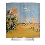 Story Land 2 Shower Curtain