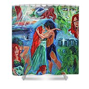 Story Of Vaehema Shower Curtain
