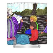 Story-time On Grand Mom's Porch Shower Curtain