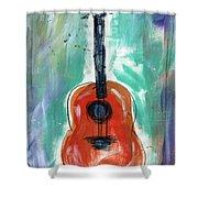Storyteller's Guitar Shower Curtain
