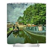 Stourport Narrowboats  Shower Curtain