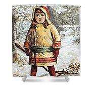 Stove Trade Card, C1890 Shower Curtain
