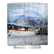 Stowe Valley Farm Shower Curtain