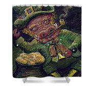 St.patricks Day Pig Shower Curtain