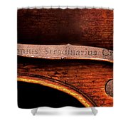 Stradivarius Label Shower Curtain