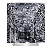 Strahov Monastery Philosophical Hall Bw Shower Curtain