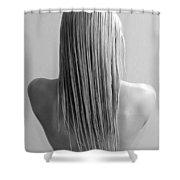 Straight Hair Shower Curtain