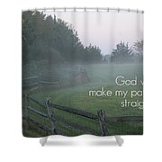 Straight Paths - Text Full Shower Curtain