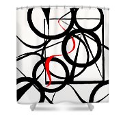 Straights And Rounds Shower Curtain
