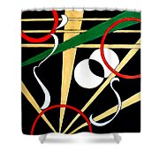 Straights And Rounds.2 Shower Curtain