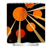 Straights And Rounds.3 Shower Curtain