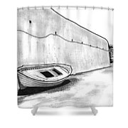 Stranded Boat Shower Curtain