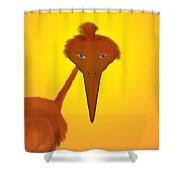 Strange Bird Shower Curtain
