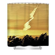 Strange Clouds At Sunset I Shower Curtain