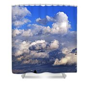 Strange Clouds Shower Curtain