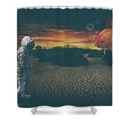Strange Encounter Shower Curtain