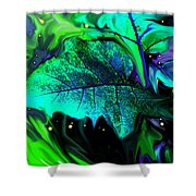 Strange Green World Shower Curtain