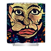 Strange Man Color Shower Curtain