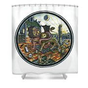 Strange Reverie Shower Curtain
