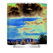 Strange Spokane Storm Shower Curtain