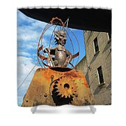 Strange Steam Punk Demonic Figure Shower Curtain