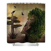 Stranger In The Forest Shower Curtain