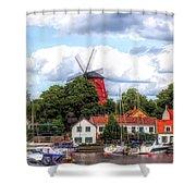 Windmill In Strangnas Sweden Shower Curtain