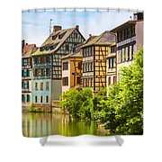 Strasbourg, Half-tmbered Houses, Petite France, Alsace, France  Shower Curtain