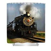 Strasburg Locomotive Shower Curtain