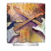 Strat Brothers Shower Curtain