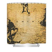 Strategy Of Wars Shower Curtain