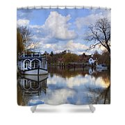 Strateley - England Shower Curtain