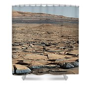 Stratified Rock On Mars Shower Curtain