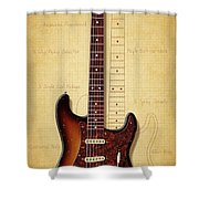 Stratocaster Illustration Shower Curtain