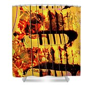 Stratocaster Strat Plus Lace Sensors Pop Art Shower Curtain