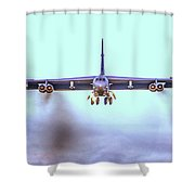 Stratofortress Leaving Color Shower Curtain