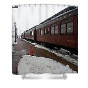 Strausburg Railroad Shower Curtain