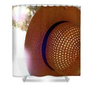 Straw Hat Hanging In Sunny Cottage Shower Curtain