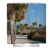 Straw Hut Paradise Shower Curtain