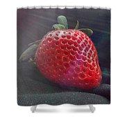 Strawberries Raise Shower Curtain