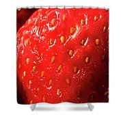 Strawberry Abstract Shower Curtain